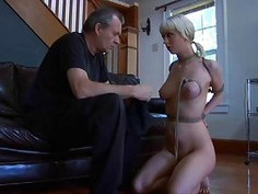 Cutie is getting bizarre torturing for her feet