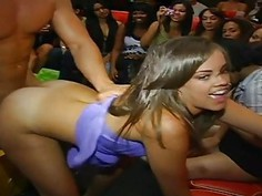 Lusty babes are engulfing weenies enthusiastically