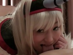 Subtitles Japanese cosplay twin double blowjob