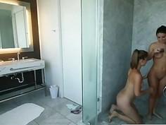 Serena Blair Lesbian Hot Bathroom Pussy Licking