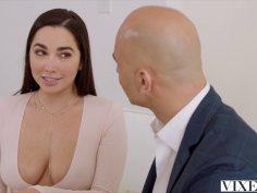 Karlee squirts all over her boss' thick meat rod