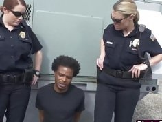 Hot female cops catch a peeping tom with their asses