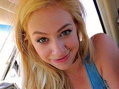 Lusty hippy blonde