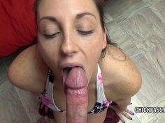Melanie Hicks is doing some POV cock sucking