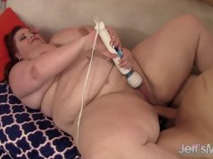 BBW Eliza Allure Uses Her Huge Belly and Tight Asshole to Get a Guy Off
