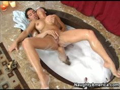 A plumber fingerfucks the wet pussy of horny housewife Teri Weigel