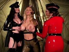 Lesbian BDSM game with brunette mistress Anastasia Pierce