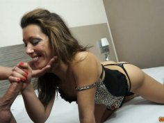 Italian milf banged in doggy style right into her dark-colored twat