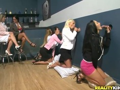 Erotic Ava Addams and her lady pals get naughty rub pussy and suck cock