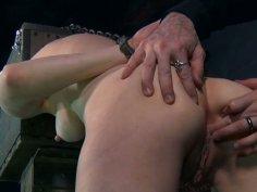 Wild ass spanking for obedient ginger head Damon Pierce