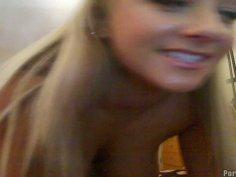 Hacked webcam video of army slut Briana Blai teasing and flashing her boobies