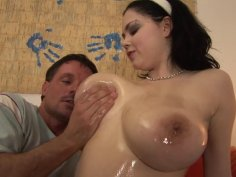 Curvy German chick with big tits Clara gets pussy pounded