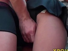 Real Teen Prostitute Turns outdoor