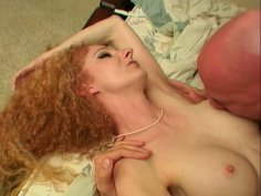 Mesmerizing red-haired babe Annie Body gets her beaver fucked hard